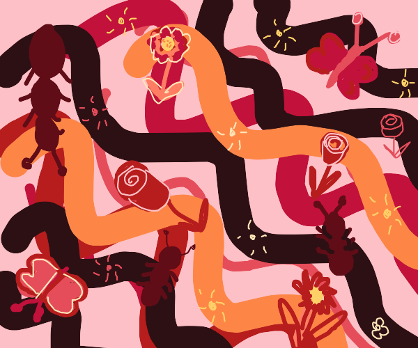 A FIELD OF SNAKES AND ANTS