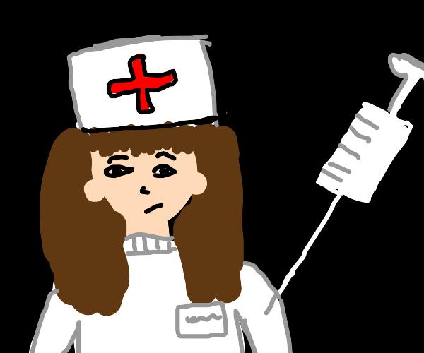 Nurse gets shot.