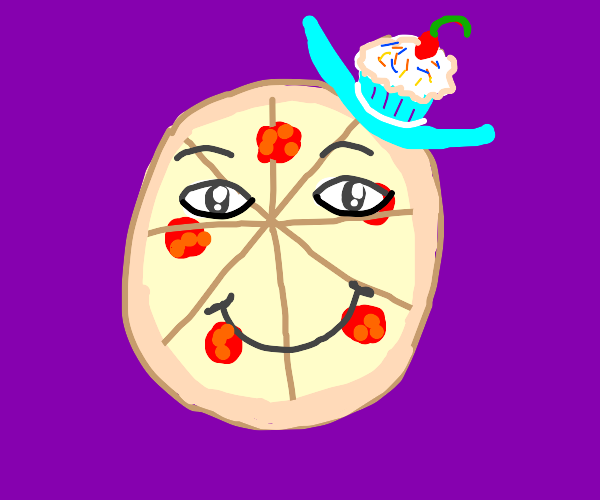 Pizza Loves It's Cupcake Hat