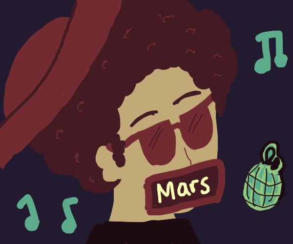Bruno Mars, but he's literally Mars