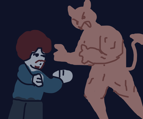 Bob Ross beats the devil out of it