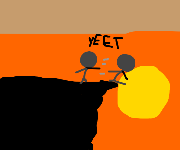 Man yeets his clone into the sun.
