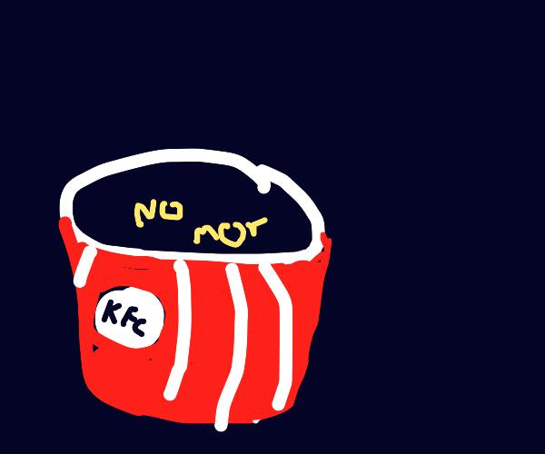 Empty bucket of KFC