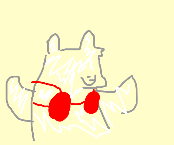 polar bear wearing a bra
