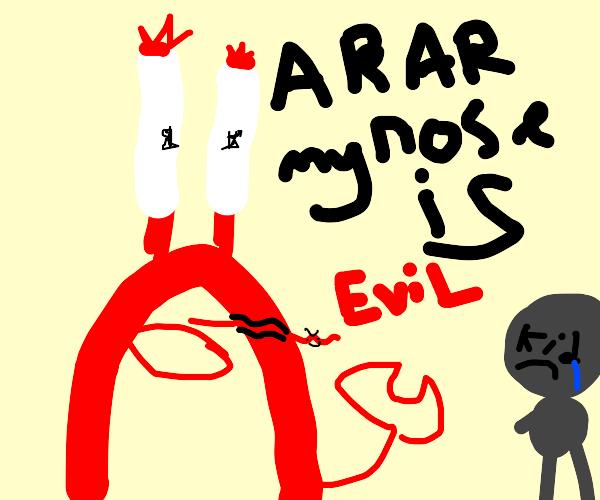 mr krabs tells sad kid his nose is evil