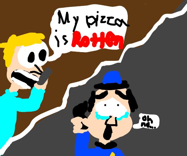 Man calls 911 over rotten pizza