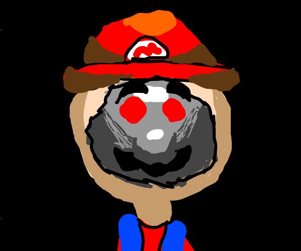 Mario'sfacehasbeenrippedofftorevealhe'sarobot