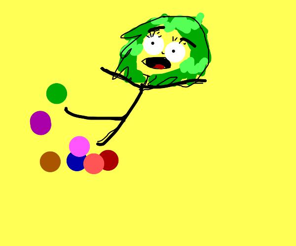 green haired girl trips balls