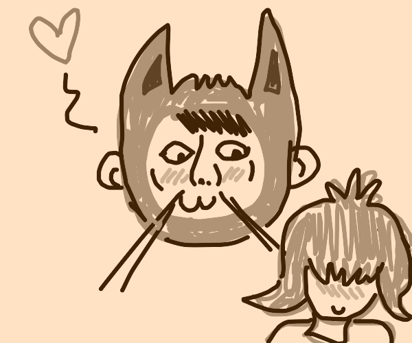 man with whiskers likes cuties