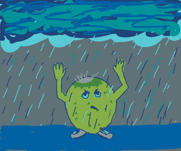 The prickly pear of doom summons a storm.