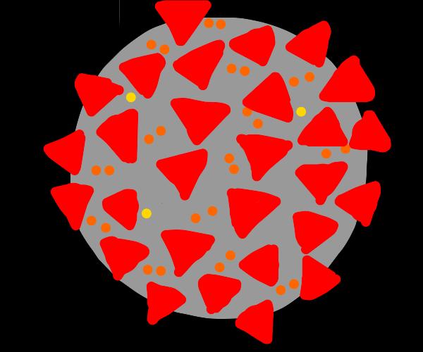 Coronavirus, but it has flamin hot Doritos