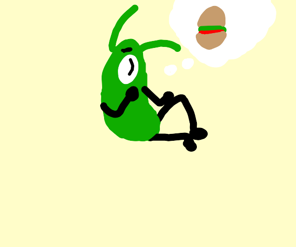 Plankton dreaming of krabby pattty