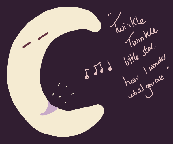 moon sings a lullaby