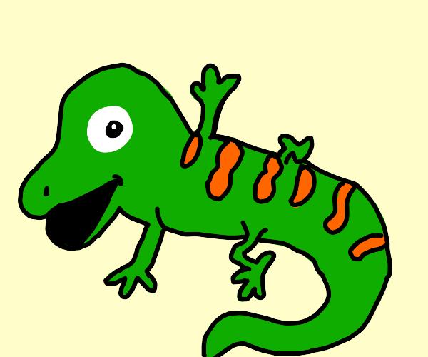 Long and smol lizard looking hopeful