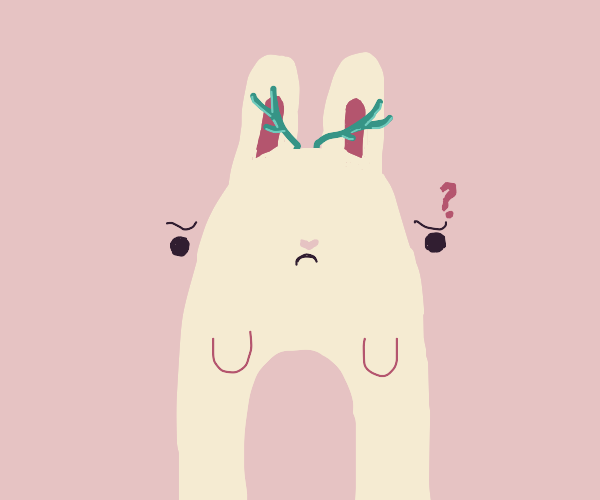 Bunny confused on why it has antlers