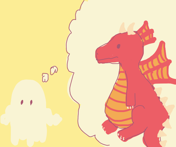 ghost thinking ab a dragon