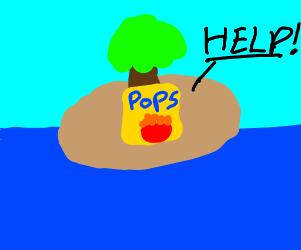 Pops cereal yelling for help on island