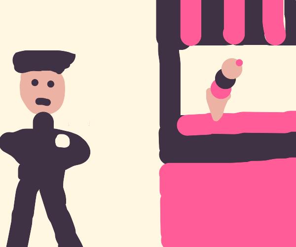 Security guards, Guarding a ice cream shop
