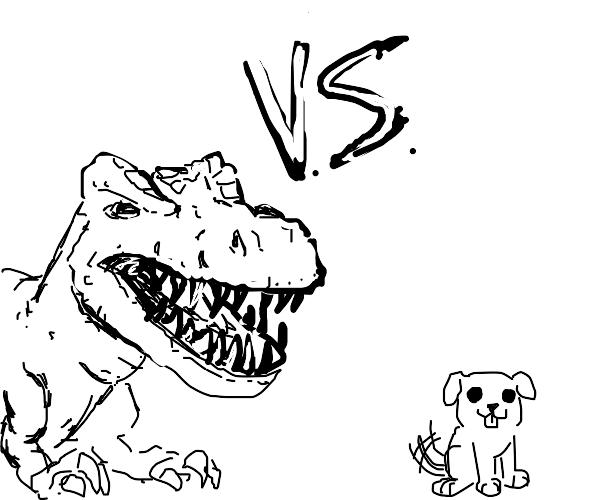 Deathmatch: Dinosaur vs. Puppy