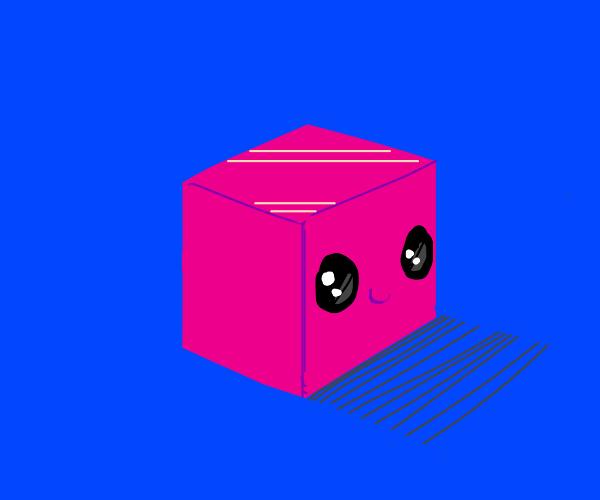 Cute, happy cube