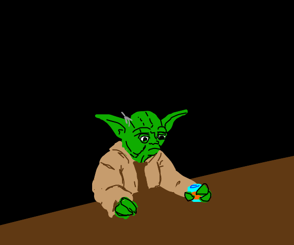 yoda, wondering what the point of his life is