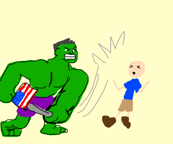 Hulk Assaults a inocent hiker with patriotism