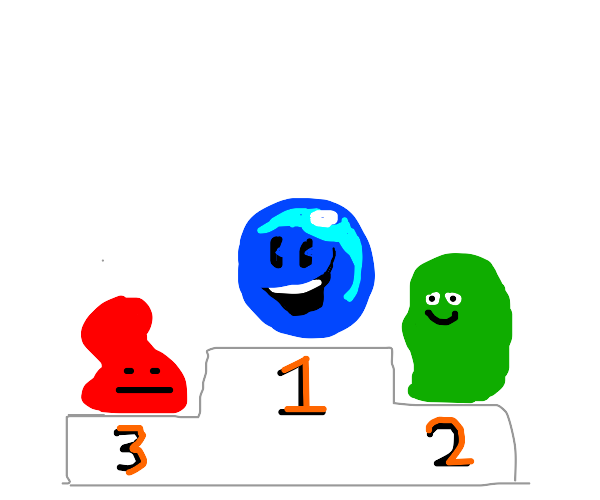 Blue blob gets first prize