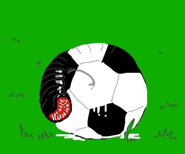 leech disguised as a soccer ball