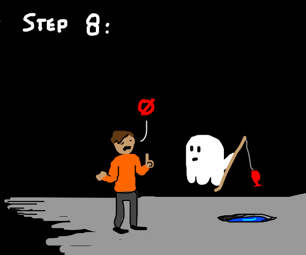 Step 8: Tell the Ghost you don't like fish.