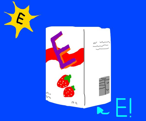 Strawberry juice says E