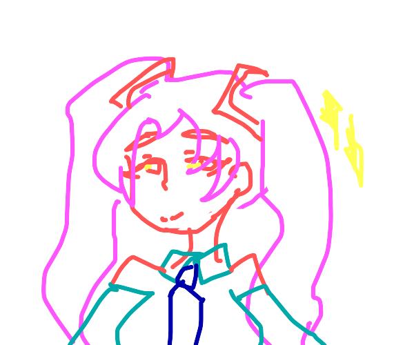 Pink sparkly Hatsune Miku