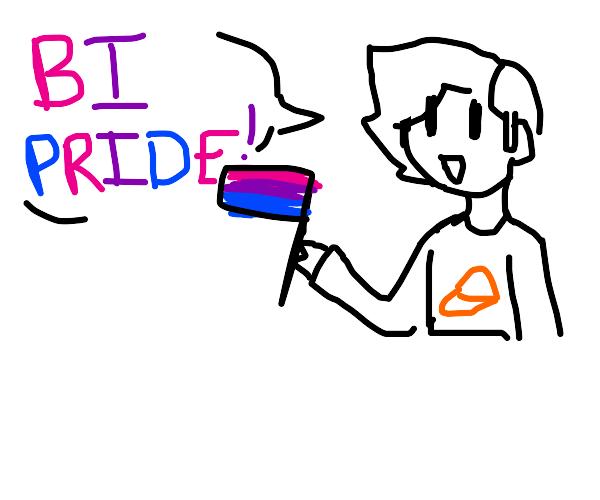 Man says 'bi pride'