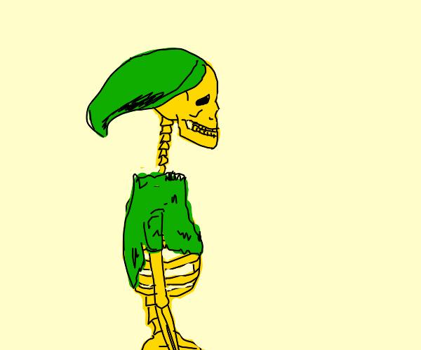 Link is a Gold Skeleton