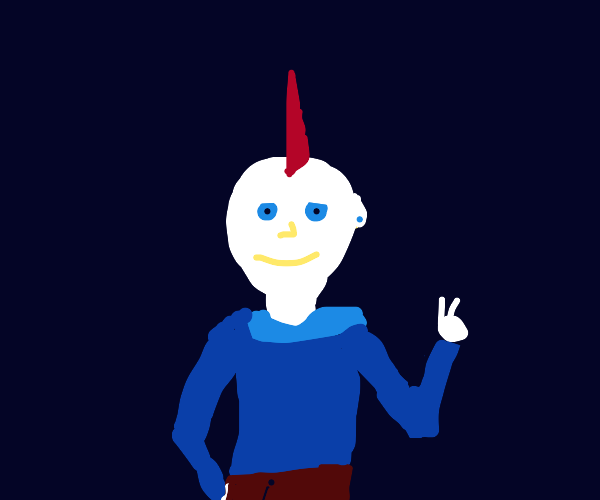 A happy dude showing a peace sign