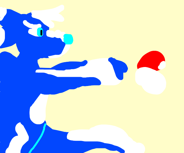 a furry uses a pokeball