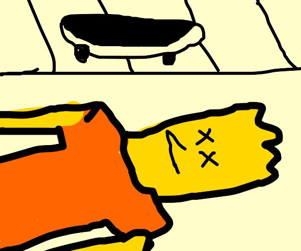 Bart Dies In Freak Skateboard Accident