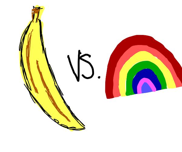 banana vs rainbow