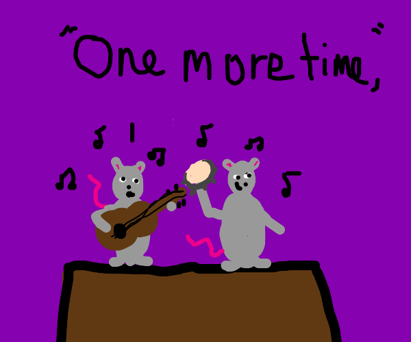 mice playing instruments and singing again