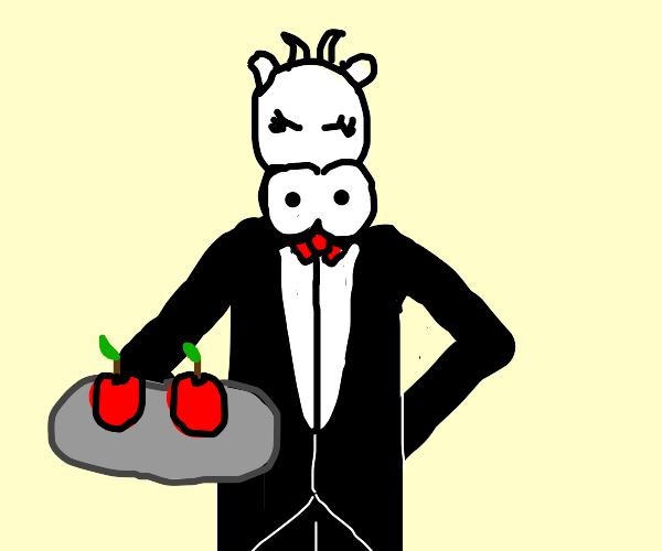 Cows serving apples