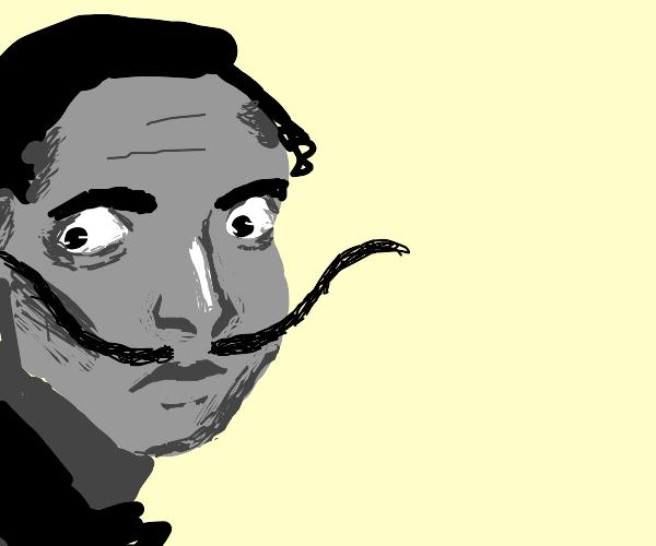 Dali with outrageous moustache
