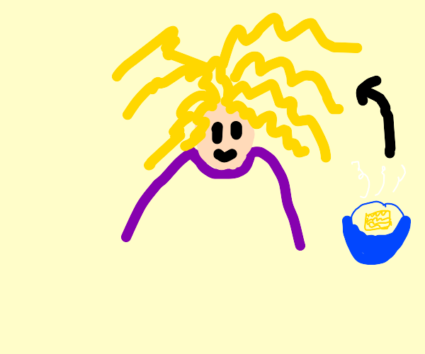 Woman With Noodle Hair