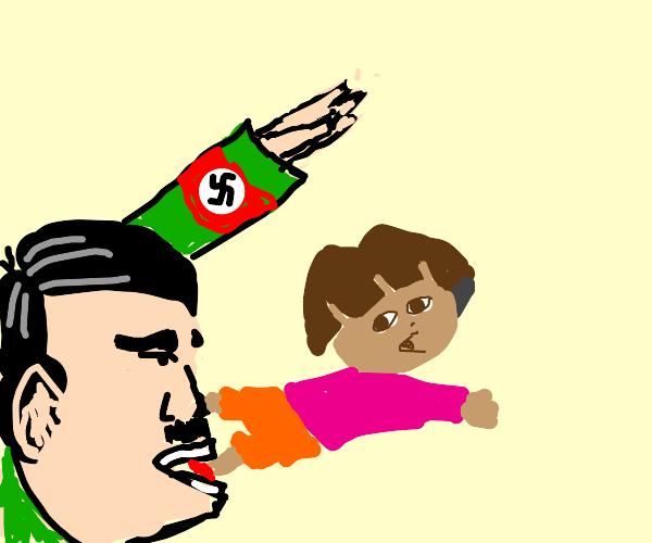 Hitler eats Dora the explorer