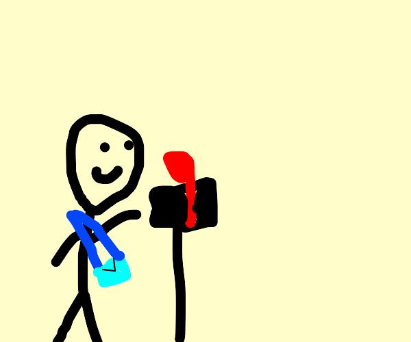 Man posting mail
