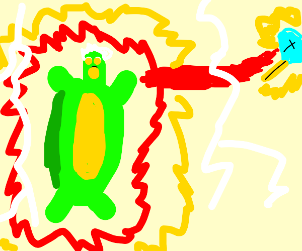 Turtle using its full power