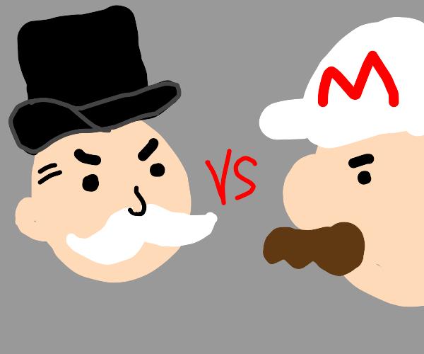Mr. Monopoly vs Fire Mario