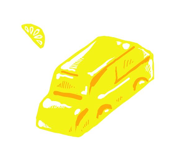 jello car tastes like lemon