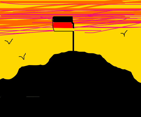german flag on top of a hill