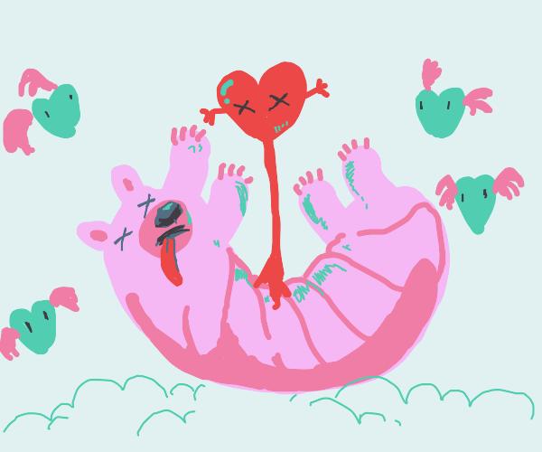 Twister bear& hearts