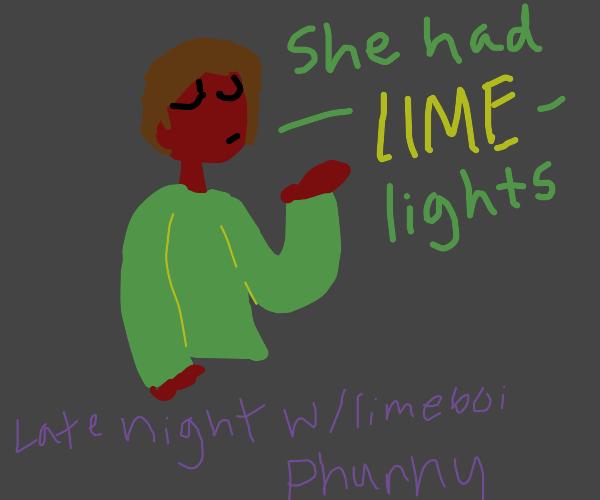 lime comedian makes a lime pun
