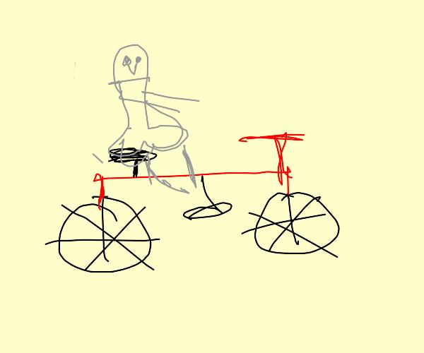 a PaPer boy on a red bike